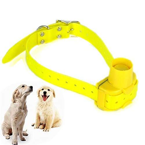 Perro De Caza Beeper Collares De Perro Collar De Entrenamiento A Prueba De Agua Durable (Color : Yellow)