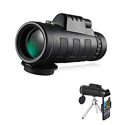 Monocular Telescope, 40X60 High Power HD Compact Monocular with Smartphone Holder & Tripod Waterproof Monocular, Made by FMC BAK4 Prism for Bird Watching, Wildlife, Traveling, Concert, Sports Game