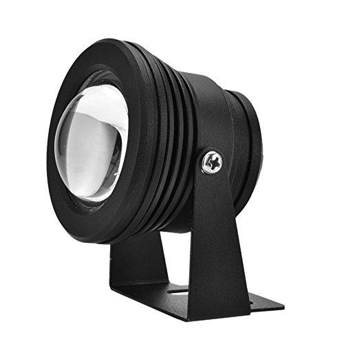 Garsent Unterwasserbeleuchtung LED, 12V 10W RGB LED IP65 wasserdichte Aquarium-Scheinwerferlampe mit Fernbedienung für Landschaft, Schwimmbad, Teich Piscina, Aquarium, etc.(Schwarz)