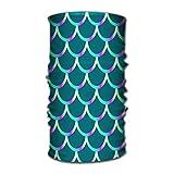 Quintion Robeson Cerchietti Elastico Turbante Elegante Fascia per Capelli Colore Tradizionale Giapponese Pesce Squama Mermaid Scales Pattern Stock Green Scales Electric
