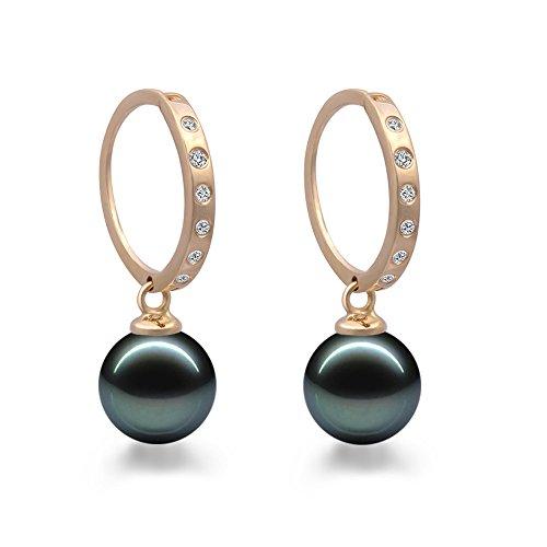 Original McPearl Diamant Akoya Perlen Ohrringe. Top Qualität aus der Manufaktur.