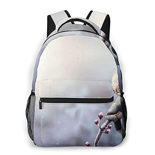 Lindo mono impresión mochila de impresión portátil impermeable antirrobo casual mochila bolsa USB puerto de carga mochila unisex