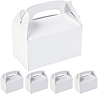 Adorox 12 Assorted White Color Cardboard Favor Boxes Treat Goody Bags Children Birthday Party Event Gift