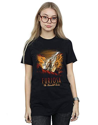 Poopsmoothie Damen Imperator Furiosa Boyfriend Fit T-Shirt Schwarz Small