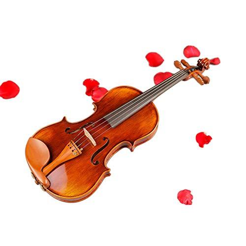 NUYI-3 Puro Handmade Modello Naturale Violino essiccato 10 Anni Bianco Pino Acero Legno Mid-Range Certificato Internazionale di Violino,1/2