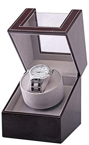 FEE-ZC Caja de Reloj, Caja de Reloj de bobinado automático de una Sola Sacudida eléctrica, Caja de Reloj, Cajas de Motor Mesa de oscilación de Cuero de PU