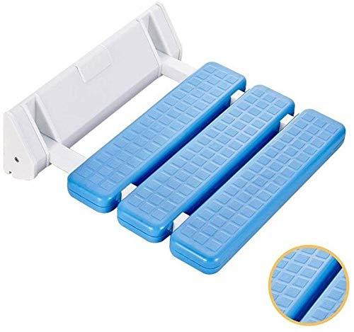 Douchestoel Opvouwbare badstoelen Duurzame antislip met aan de muur gemonteerde beugels- Douchestoelen voor douchen voor volwassenen, ouderen en senioren- Houdt tot 130kg (kleur: wit)