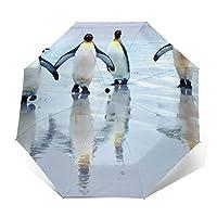 折りたたみ傘 ビーチのペンギンの日傘 遮光 紫外線遮蔽率99% 超耐風撥水 梅雨対策 携帯しやすい晴雨兼用