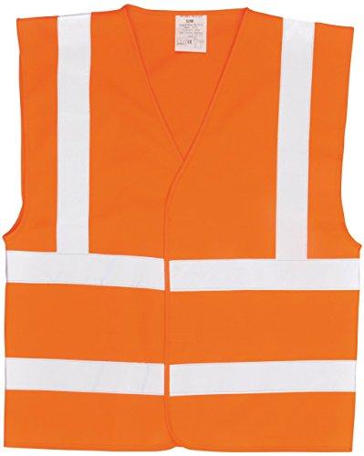 Portwest C470ORR6X/7X Gilet ad Alta Visibilità con Due Bande e Bretelle, Arancione, 6X7X