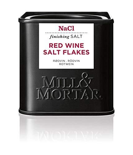 Mill & Mortar Rotwein Flockensalz - River Salt mit Rotwein - 80 g
