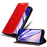 Cadorabo Book Case works with WIKO VIEW MAX in APPLE RED -