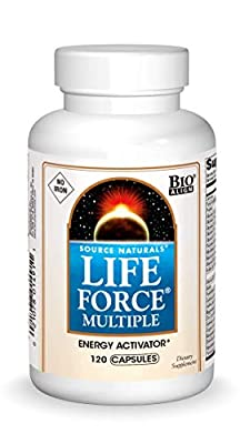 Source Naturals Life Force Multiple Iron Free Daily Multivitamin High Potency Essential Vitamins, Minerals, Antioxidants & Nutrients - Energy & Immune Boost - 120 Capsules