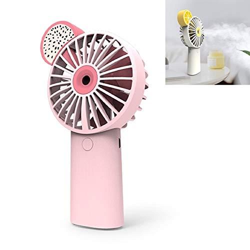 YIJINYAESHOP Fanáticos del hogar Fruta de Carga USB Cámara en Mano Spray de Ventilador del Bolsillo de humidificación (Color : Rosado)
