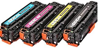 Set of 4 Compatible Laser Toner Cartridge Replace HP CF540A \ CF541\ CF542\ CF543\ Use for HP colorLaserjet M254\MFP M280\MFP M281