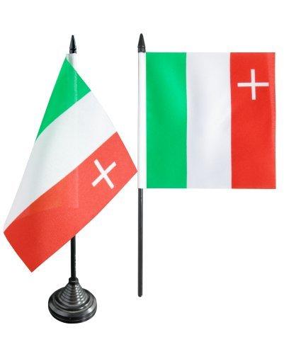 Flaggenfritze® Tischflagge Schweiz Kanton Neuenburg - 12 x 12 cm