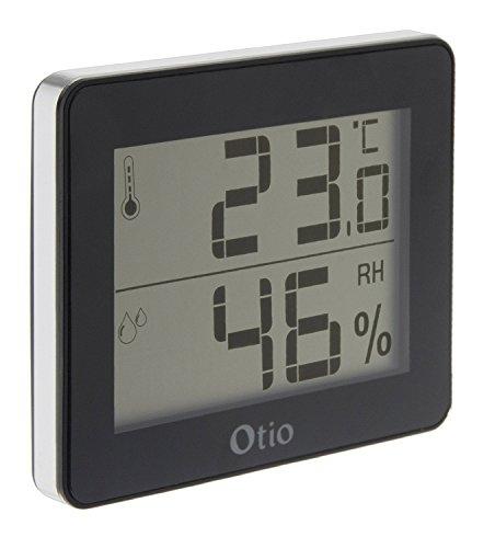Otio - - 936058 termómetro/higrómetro Interior Negro