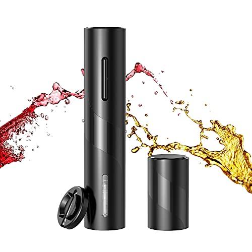 IraXpro Cavatappi Elettrico per Vino,Apribottiglie Birra,Set Apribottiglie Professionale Con Apribottiglie Elettrico,Tagliacapsule e Apribottiglie Birra Automatico Magnetico【2 Pezzi】