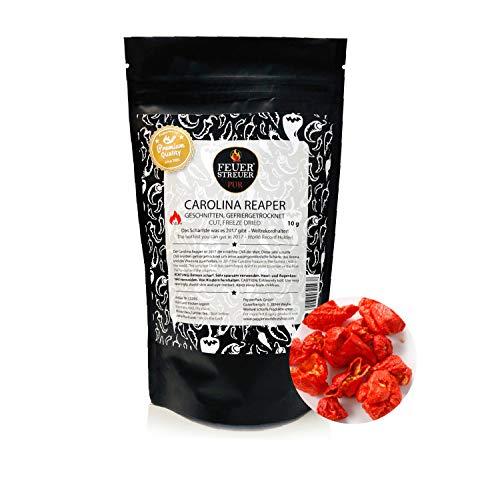 Carolina Reaper, gefriergetrocknet - FeuerStreuer Pur - Zip-Beutel mit Aromaschutz - 10g - Das ideale Geschenk für Chili-Fans