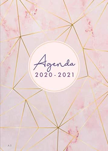 Agenda 2020 2021 Marmol: Agenda 2020/2021 18 meses: Organiza tu día - A5 -  Agenda semanal - Julio 2020 a Diciembre 2021 - Español - Rosado