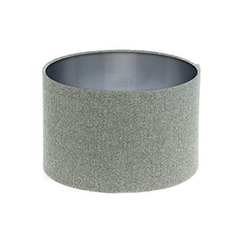 Brushed Silver /& Light Grey Lampshade Light Shade