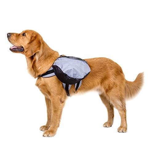 jieqing Mochila Perro Bolso para Perro Bolsa de Viaje Perro Accesorios Los Perros la Mochila Arnés de Perro Bolsa Perro Accesorios para Camping Perro Mochila Gray,S