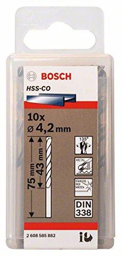 Bosch Professional Metallbohrer HSS-Cobalt (10 Stück, Ø 4,2 mm)