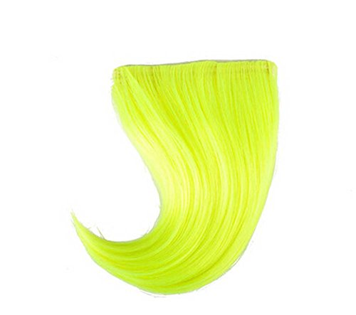 Colorful étape perruque, parti perruque, cheveux Bangs Perruques,Vert clair