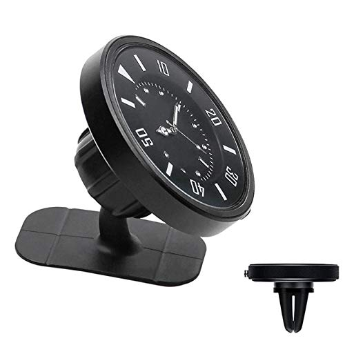 Reloj de cuarzo para coche con soporte magnético compatible con Opel Benz BMW, Audi, Volkswagen, Honda, Ford, Toyota, Peugeot.