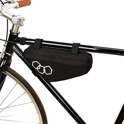 yijiang Nueva Bolsa de sillín de Bicicleta Bicicleta de montaña Impermeable Bolsa de triángulo Marco de Bicicleta Bolsas del Tubo Delantero (Color : 10)