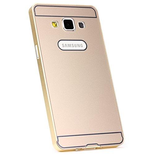 Urcover® Aluminium Bumper kompatibel mit Samsung Galaxy A5 (2015) Alu Schutzhülle Zubehör Hülle Schale Case Cover Champagner Gold