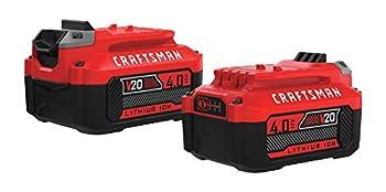 CRAFTSMAN V20 Lithium Ion Battery 4.0-Amp Hour 2 Pack  CMCB204-2