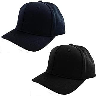 Smitty | HT-306 | 6 Stitch Flex Fit Umpire Hat | Baseball Softball | Black or Navy Choice | Umpire's Choice! …