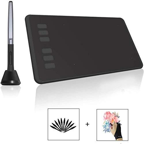 HUION grafisch tablet H640P Inspiroy batterijloos grafisch tablet met 8192 niveaus van pendrukgevoeligheid voor beginners in het schilderij grafisch tablet met displayhandschoen drawing Tablet Digital Tablet