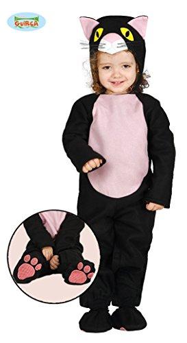 Baby Katzenkostüm Kostüm Katze für Kinder Katzen Kinderkostüm Schwarze Gr. 86-98, Größe:86/92