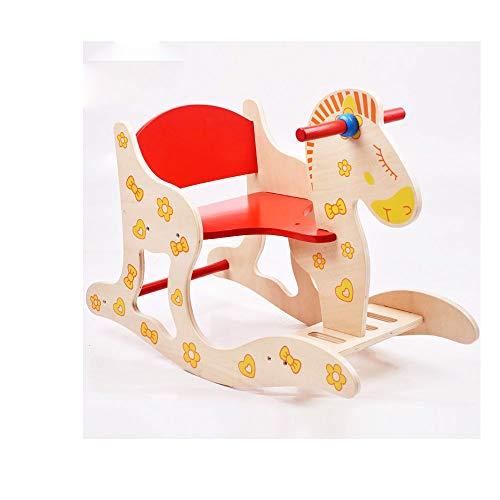 FZJDX Schaukelpferd aus Holz Baby Puzzle Spielzeug Schaukelpferd 1-5 Jahre Alter Kinderhocker Kinderstuhl Kindermöbel