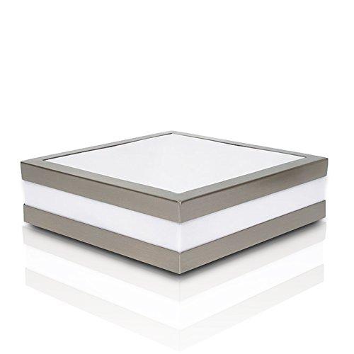 Wandleuchte Deckenleuchte SAVONA eckig/quadratisch IP44 LED E27 230V für bis zu 2x18 Watt; für Wohnraum, Bad, Flur, Wand, Decke; ohne Leuchtmittel