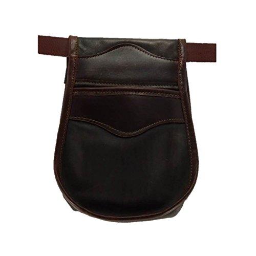 CAZA Y AVENTURA Una Bolsa de ojeo-Bolsa portacartuchos en Cuero, para Llevar en el cinturón. para 50 Cartuchos