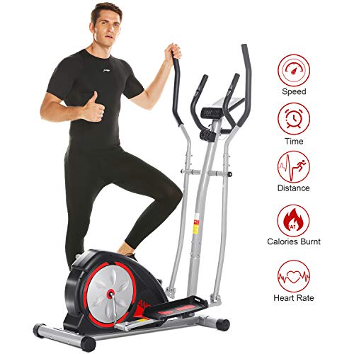 Best Buy! ANCHEER Elliptical Machine, Magnetic Elliptical Exercise Training Machine with LCD Monitor...