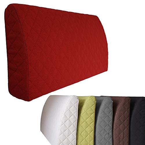Sabeatex® Rückenlehne für Bett, Sofakissen, Rückenkissen für Lounge-oder Palettenmöbel in 5 trendigen Farben. Länge 90 cm, Höhe 45 cm Farbe: (Rot)