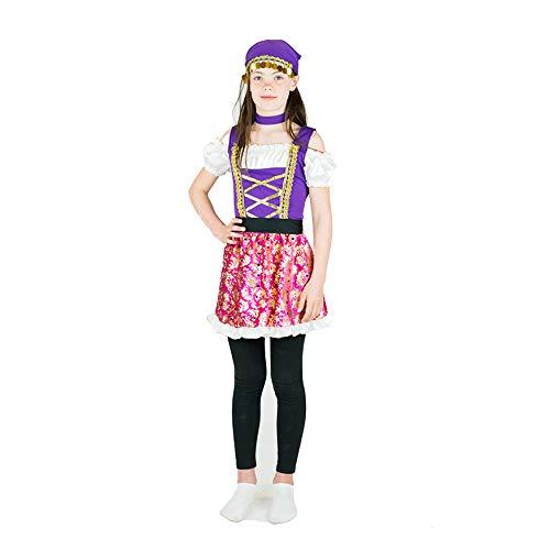 Bodysocks Disfraz de Princesa Gitana Niña (6-8 años)