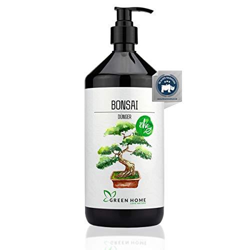 GREEN HOME LOVE NATURE®️ 1L Bonsai Dünger mit hohem Nährstoffgehalt - nachhaltiger Ginseng Dünger einfach zu dosieren - Made in Germany