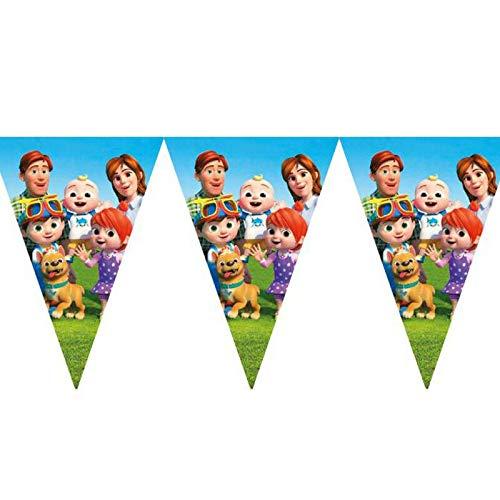 Cocomelon - Set di 10 bandierine per feste di compleanno