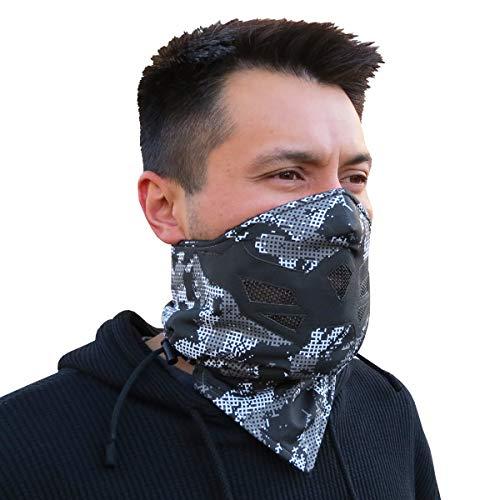 Grace Folly Half Face Gesichtsmaske für kaltes Winterwetter. Diese Halbmaske ist für Snowboard, Ski, Motorrad geeignet. (in vielen Farben lieferbar) (Digital Camouflage)