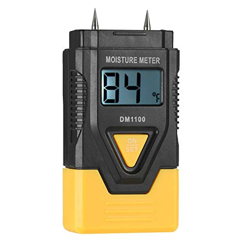 QINAIDI Holz Digitaler Feuchtigkeitsmesser, DREI-In-One Mixed Soil Hygrometer mit LCD-Display, mit 2 Test PrüfspitzePin