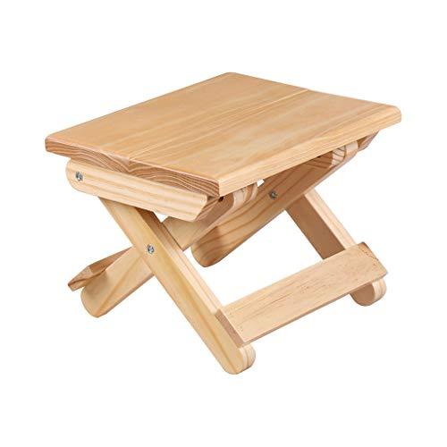 Taburete plegable de madera taburete ligero natural de estilo japonés taburete de pesca al aire libre mazar, sala de estar de la casa porche niños taburete de la habitación cama de Flores(24x17, 8cm)