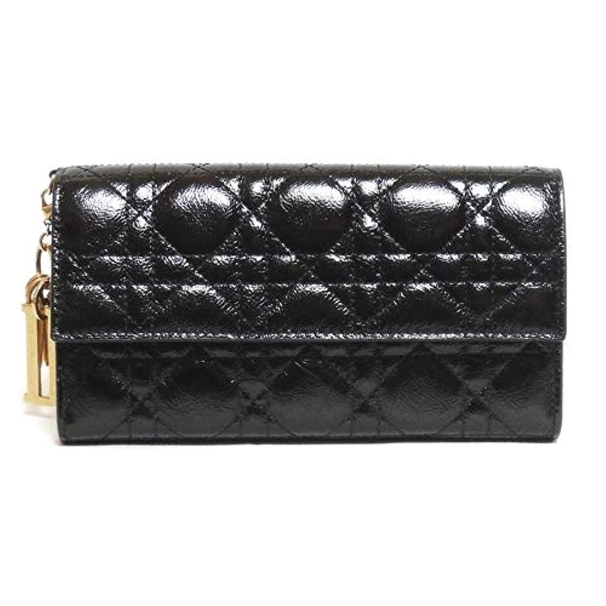 解決骨髄請求書国内直営店未入荷品 ディオール Lady Dior 長財布 ブラック S0004CVYJ M900