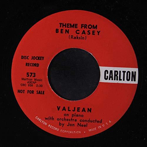 "Valjean - Theme From Ben Casey / Theme From Dr. Kildare - 7"" Single 1962 - Carlton 573 - USA Press"