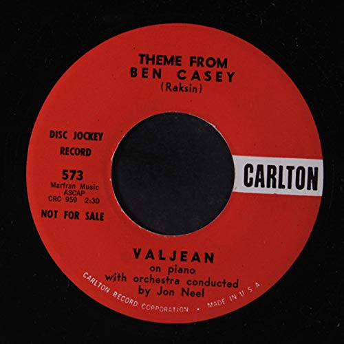 Valjean - Theme From Ben Casey / Theme From Dr. Kildare - 7' Single 1962 - Carlton 573 - USA Press