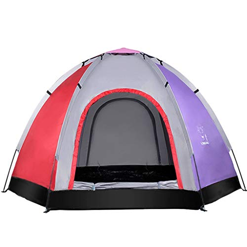 ZHJ Multi-person Tent 5-6 People Outdoor Tent Beach Tent Anti-UV Leisure Outing Frame Tents (Color : C)