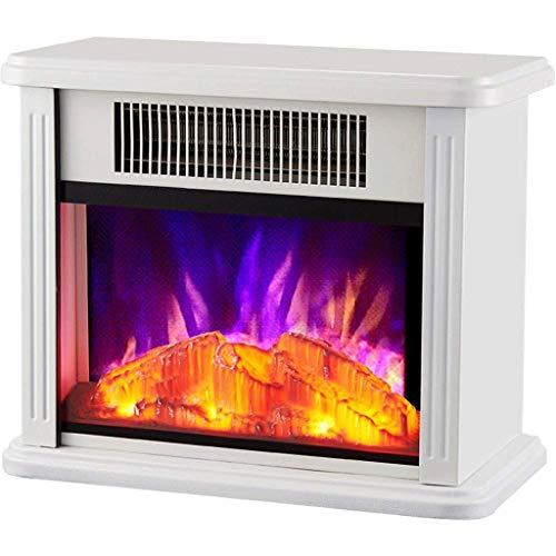 SLT Startseite Heizung, Kamineinsatz, Einbau Builtin & freistehender Kamin Heizung LED justierbare Flamme mit brennendem Kamin (Color : White)
